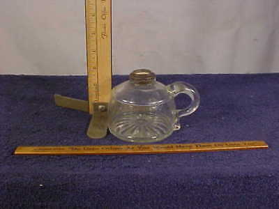 Antique FINGER OIL LAMP Base Only with Fluted Bottom