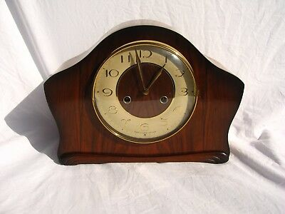 Antique Smiths Mantel Clock Art Deco Style In Working Order But Requires Work