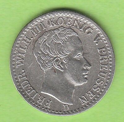 Prussia 1/6 Thaler 1840 D Rare Year nswleipzig