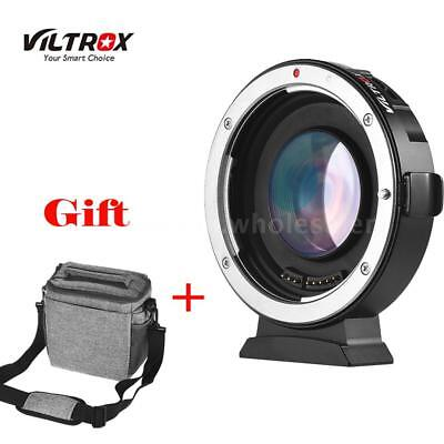 VILTROX EF-M2 ELECTRONIC ADAPTER BOOSTER 0.71X FOR CANON TO M43 EF MFT Lens+Bag