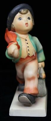 "Goebel Hummel ""Merry Wanderer"" Young Traveling Boy 4-1/4"" Tall TMK6 Figurine"