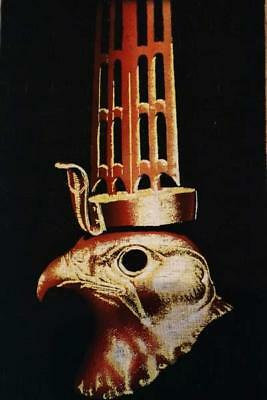 Signed Handmade Papyrus Egyptian Falcon HORUS (Protection) Painting_17x13 Inches