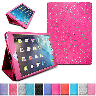 For Apple iPad 9.7 2018 /17 Folding Smart Slim Magnetic Leather Stand Case Cover