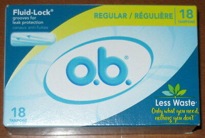 Ob Tampons Regular 18 Count W/fluid Lock Leak Protection