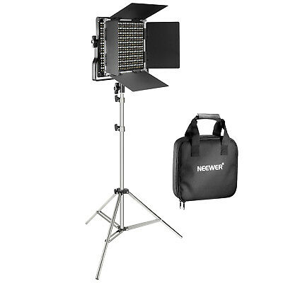 Neewer Dimmable 660 LED Video Light Panel with Stainless Steel Light Stand Kit