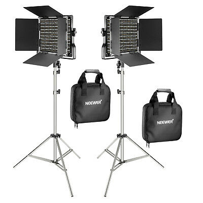 Neewer 2-Pack Dimmable 660 LED Video Light Panel with 78.7-inch Light Stand Kit
