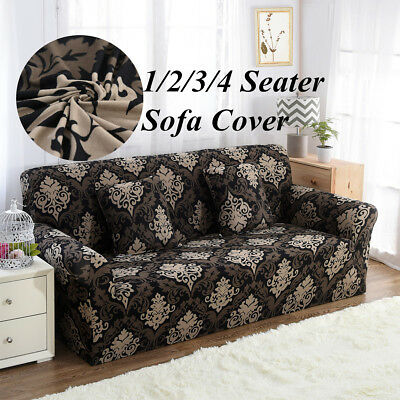 1 2 3 4 Seat Sofa Cover Stretch Elastic Couch Slipcover Furniture Protector Fit