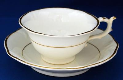 British Porcelain Large Gilded Breakfast Cup and Saucer Antique