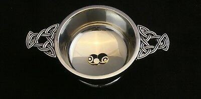 Bowls and Jack Enamel Quaich Drinking Bowl Scottish Pewter Stainless Steel 040