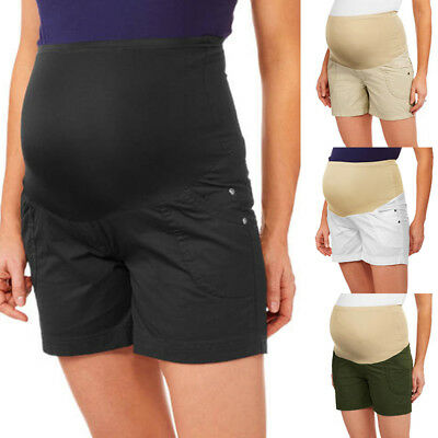 UK 10-24 Summer Maternitry Womens Shorts Overbump Pregnancy Loose Pants Trousers
