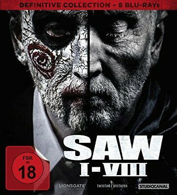 8 Blu-rays * SAW BOX I-VIII 1+2+3+4+5+6+7+8 DEFINITIVE COLL. FSK 18 # NEU OVP /