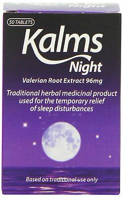 Kalms Night Valerian Root Extract, Traditional Herbal Remedy, Pack of 50 Tablets
