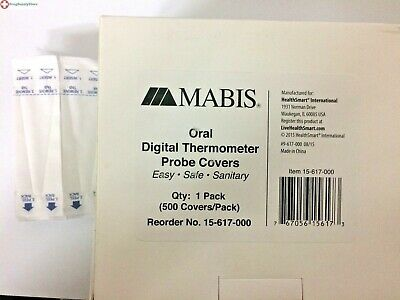 DMI Digital Thermometer Probe Covers, Bulk Pack, 500
