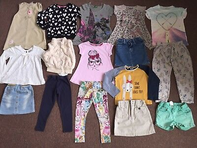 16 X Big Bundle Clothes For Girl Age 4-5 (next, George)