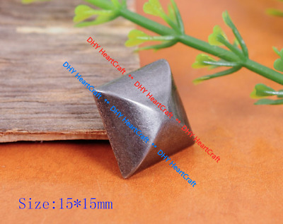 50X 15mm Punk Rock Retro Silver Heavy Pyramid Rapid Stud Rivet For Leathercraft