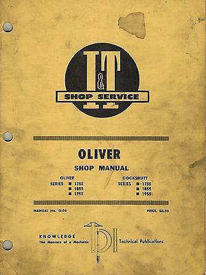 1755 OLIVER TRACTOR Technical Service Shop Repair Manual ... on