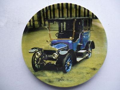 very nice decorative plate with picture of vintage car vetran car etc  free p&p