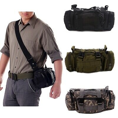 Outdoor Military Tactical Waist Pack Shoulder Bag Camping Hiking Belt Pouch
