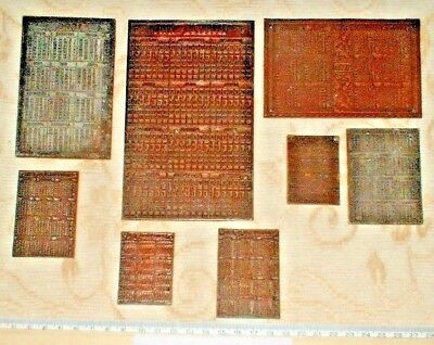 Antique Printing Plates/Blocks (8) - Yearly Calendar and Almanacks- 1896 to & ANTIQUE PRINTING PLATES/BLOCKS (8) - Yearly Calendar and Almanacks ...