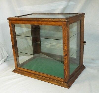 Old SMALL Victorian OAK Counter Top SHOWCASE DISPLAY CASE General Store COUNTRY
