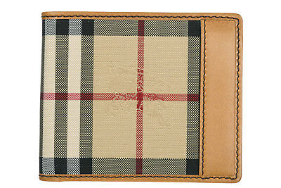 f8a8285e4f65 Burberry Men's Genuine Leather Wallet Credit Card Bifold New Ms Idbillf  Brow A15