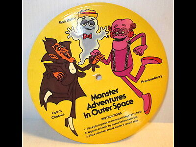 Monster Adventures Outer Space 1970s Record Count Chocula/Boo Berry/Frankenberry