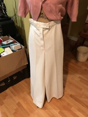 Vintage 50s 60s ? SADDLE & PADDLE Woman's Pants Trousers Wide Legs