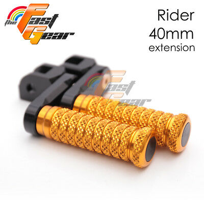 Gold CNC Front 40mm Lower Footpegs For Ducati Monster S4RS 06 07 08