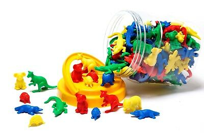 Counters for Maths Australian Animals 48 pcs Different Shapes Sizes Colours