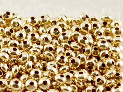 Gold 585 - Linse, 3 mm, gebohrt /0302