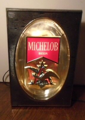 Gorgeous Vintage Michelob Beer Anheuser Busch Eagle Budweiser Electric Bar Light