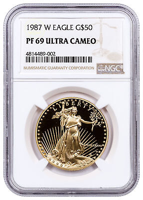 1987-W 1 oz. Gold American Eagle Proof $50 NGC PF69 UC SKU20328