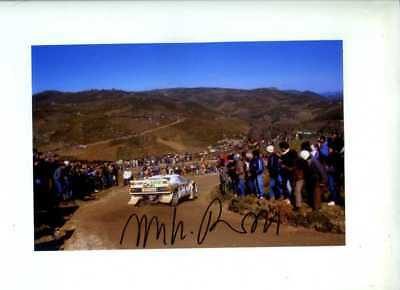 Miki Biasion Jolly Club Lancia 037 Portugal Rally 1985 Signed Photograph 1