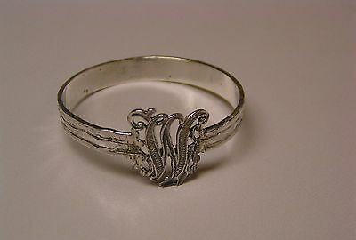 Napkin Ring with a ( Initial ( W  ) Sterling Silver