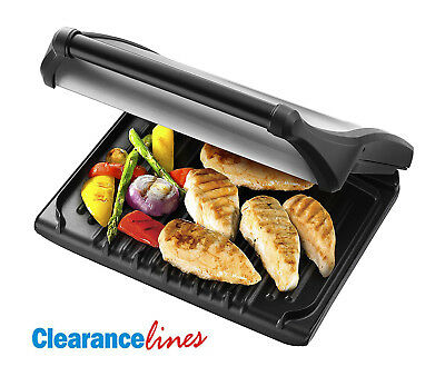 George Foreman Entertaining 7-Portion Grill 19932 - Silver