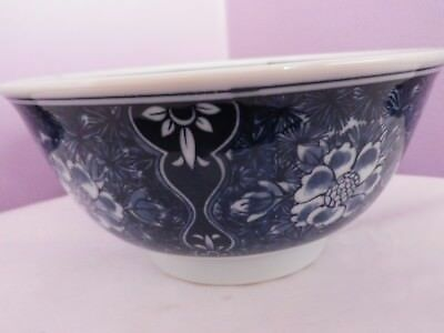 Fab Vintage Japanese Porcelain Many Flowers Des Tall Bowl 7 Cms Tall,15 Cms Dia
