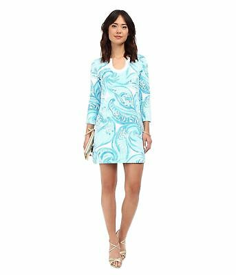 5e5ee7f5d99 New Lilly Pulitzer Marlina t-shirt dress Sea Ruffles Printed 3 4 Sleeve XS