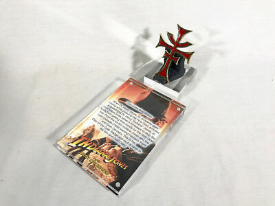 Indiana Jones Last Crusade, Clan Of The Grail, Badge With Acrylic Display Plaque