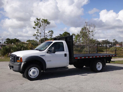Ford Super Duty F-550 DRW Flatbed 2007 Ford F550 Super Duty 12ft Flatbed 6.0L V8 Diesel 1 Owner FL Truck F-550 450