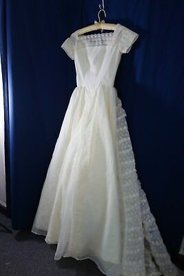 1950's Wedding Gown- Small-Tiers of Scalloped Ruffles- SCARLETT O'HARA LOOK-SALE