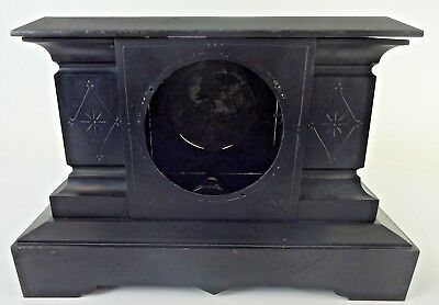 ATG VTG Victorian Era Ornate Cast Iron 1800s Mantle Clock CASE ONLY AS IS - Lot2