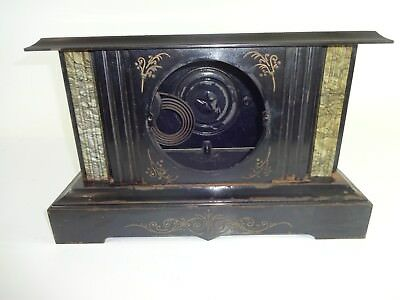 ATG VTG Victorian Era Ornate Cast Iron 1800s Mantle Clock CASE ONLY AS IS - Lot1