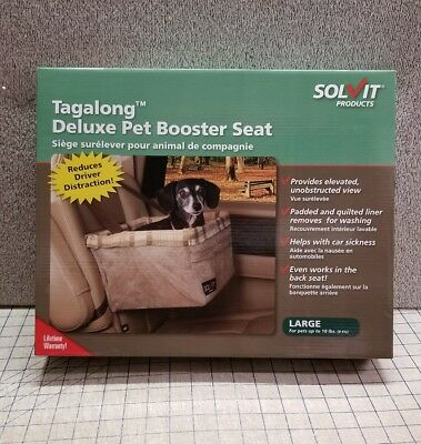 Tagalong Deluxe Pet Booster Seat Car Safety Car Ride Along Basket Chair Large