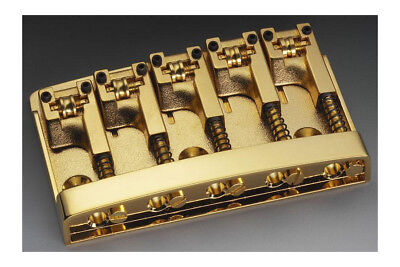 NEW Schaller High Mass 5 String Bass BRIDGE w/ Rollers Badass Gold BB-0322-002