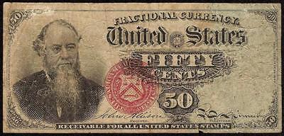 50 CENT STANTON FRACTIONAL NOTE 1869 -1875 CURRENCY OLD PAPER MONEY Fr 1376