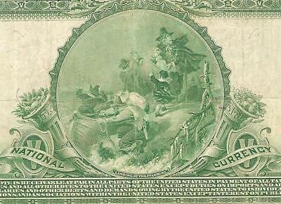 Large 1902 $5 Dollar Bill Chicago Illinois National Bank Note Currency Money Vf