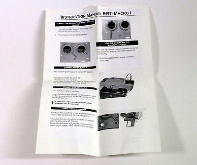 Original Instructions for RBT macro stereo attachment 3d