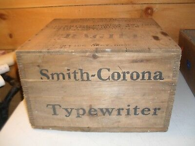 Rare Original Wooden L C Smith & Corona Typewriter Shipping Box Model 7A-11