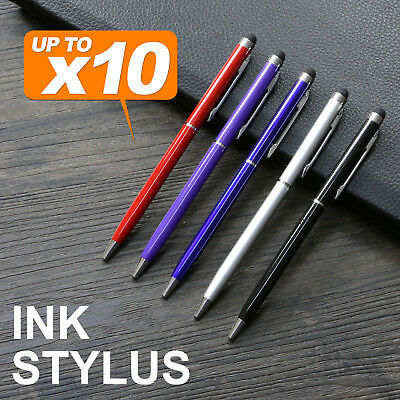 Capacitive Touch Screen Stylus Ball Point Ink Pen for iPhone iPad Tablet
