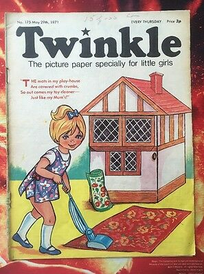 Twinkle  Comic 29 May 1971 Fn Dorothy & The Wizard Of Oz. Puzzles Not Done.